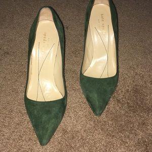 Kate Spade emerald green pumps
